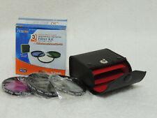 3-Piece 52mm Professional HD Filter Kit UV-CPL-FLD Zeikos