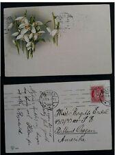 1916 Norway Postcard ties 10 øre carmine Posthorn stamp canc Bergen