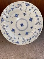 Vintage Blue And White MYOTT FINLANDIA Dinner Plate