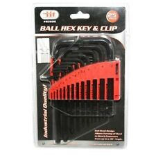25pc IIT Ball End Allen Hex Keys Set Long Arm SAE Metric L Wrench STD MM 85600