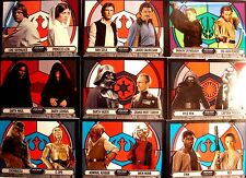 STAR WARS EVOLUTION STAINED GLASS PAIRINGS COMPLETE SET 1-9