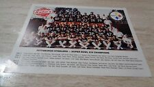 "1980 Pittsburgh Steeler 8 1/2 x 11""  ORIGINAL Team Photo  - Kahn's Meats"