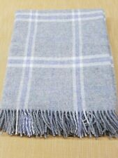 Bronte by moons grey travertine  windowpane  Shetland throw ( unlabeled seconds