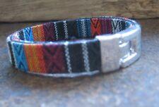 Ethno Armband blau bunt Herren Damen schwarz Unisex Bracelet lila Pulsera Mexiko