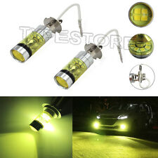 2 PCS H3 100W Samsung 2323 LED 4300K YELLOW Projector Fog Driving Light Bulbs B