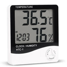 LCD Digital Thermometer In/outdoor Hygrometer Temperature Humidity Meter Clocks