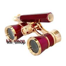 3X25 Lady Opera Theater Binocular Brass Coated Optics Glass Handheld Telescope