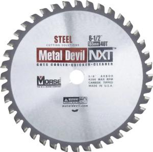 "MK Morse 101516 CSM65040NSC Metal Devil NXT Circular Saw Blade 6-1/2 "" carbide"