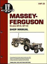 Massey Ferguson MF25 MF130 Tractor Service Repair Workshop Manual I&T Intertec