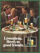 LOWENBRAU BEER  - 1984 Vintage Print Ad