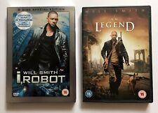 i, Robot & I Am Legend (2 DVD Bundle) 3-Discs, Will Smith, Free UK Post, VG