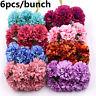 6Pcs/Bouquet Large Artificial Silk Carnation Flower Home Party Wedding Decor-