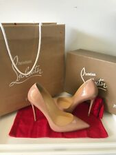 Louboutin So Kate Nude 120 mm Patent Size 40.5 Pumps New