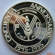 Nicaragua 1995 FAO Cordoba Silver Coin,Proof