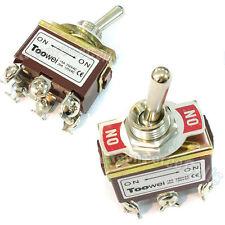 2 On-On Dpdt Interrupteur à Bascule Voiture Loquet 15A 250V 20A 125V Ac