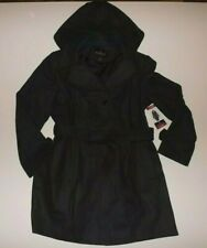 London Fog Womens Charcoal Gray Belted Peacoat Coat Jacket NWT Size M Medium