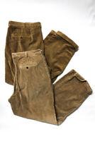 346 Brooks Brothers Mens Straight Leg Corduroy Pants Brown Size 40 Lot 2