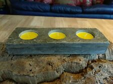Tealight Holder Natural Stone / Rock / Marble with 3 Diamond Drilled Blind Holes