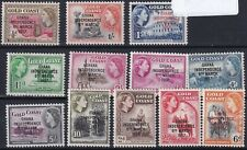 Ghana 1957 Mi: 5 - 17 Independence overprints MNH