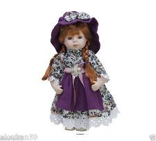 Doll Porcelain 30 cm with Soporte. Purple - BAM007