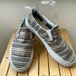 RARE Vans Striped Canvas Slip-on Shoes UK5 EU38 US7.5 Worn Once Great Condition