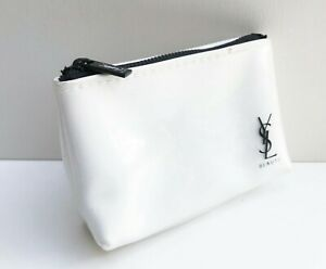 1x YSL Beauty Waterproof White Makeup Cosmetics Bag / Pouch / Clutch, Small Size