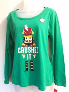 Family Pjs Women Holiday Nutcracker Crushed It Sleep Shirt NWT Large