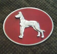 Used in new condition Great Dane Semi Truck Trailer Plaque Emblem Dogs
