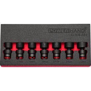 "3/8"" Drive Shallow Swivel Impact Socket Set 7 Pce 16-22mm KI-R38-SS2"