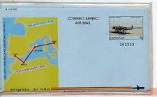 España Aerograma Aviones año 1989 (CZ-504)