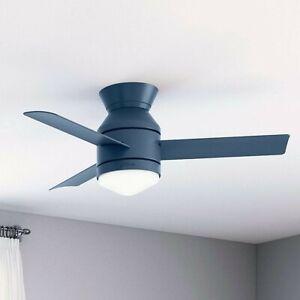 """Hunter Dublin 44 LED Dublin 44"""" 3 Blade LED Ceiling Fan - Blue"""