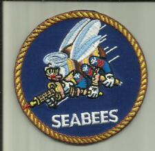 Seabees U.S. Navy Patch Naval Mobile Construction Battalion Sailor Soldier Usa