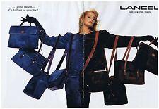 PUBLICITE ADVERTISING 104 1987 LANCEL les sacs 1 (2 pages)