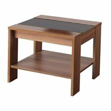 Hollywood Lamp Table Walnut/Black Gloss