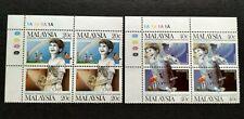 1987 Malaysia International Conference Drug Abuse Stamps x2 sets MNH OG (Lot A)