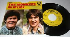 RARE DJ PROMO~THE MONKEES Oh My My/I Love COLGEMS Records 45 w PS-NICE!
