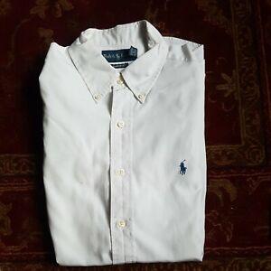 Ralph Lauren Men's White Classic Fit Shirt 15.5 Medium