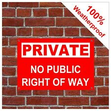 Private no public right of way sign 9145