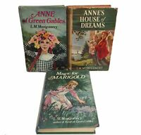 3 L.M. Montgomery Hardback Books - Anne of Green Gables