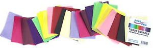 Tissue Paper Squares 100mm (4 Inch) 480 Sheets Assorted Colours