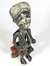 Vintage Mother Child African Carved Wood Sculpture