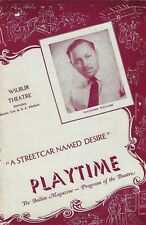 """Marlon Brando """"A STREETCAR NAMED DESIRE"""" Tennessee Williams 1947 Tryout Playbill"""