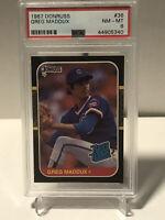 1987 DONRUSS #36 GREG MADDUX PSA 8 NM-MT ROOKIE Card Chicago CUBS RC HOF ⚾️🔥📈