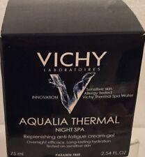 New Vichy Aqualia Thermal Night Spa Replenishing Anti-Fatigue Cream-Gel 12/17