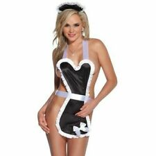 Coquette Signature Collection French Maid Apron & Headpiece. One Size 6-14.