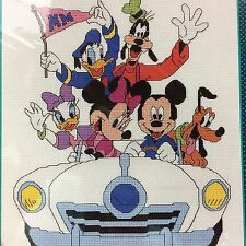 Mickey Unlimited Cross Stitch Kit Cruisin' Mickey And The Gang Unopened