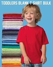 TODDLER T-SHIRT LOT BLANKS PLAIN U MIX COLORS/SIZE 2T 3T 4T 5T BULK OF 60 TEES