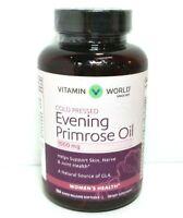 Evening Primrose Oil 1000 mg 120 Rapid Softgels Vitamin World EXP 04/21