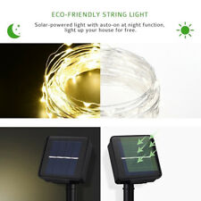 Waterproof 10M 100 LED Solar Powered Copper Wire String Party Fairy Light Chain