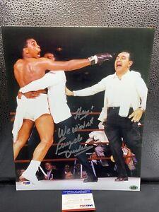 "Muhammad Ali - Angelo Dundee Signed 11x14 Photo ""Hey We Win It!""  PSA/DNA"